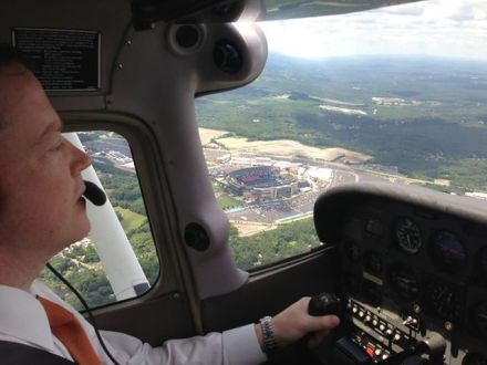 Gave Mass Sec. of Transportation his first flight lesson 7/31