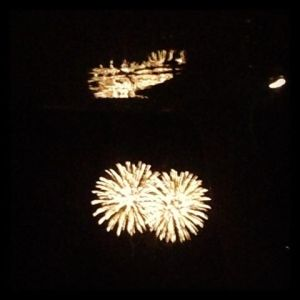 Fireworks over Plymouth Harbor 7/4