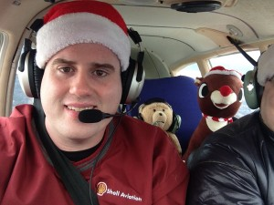 During my annual Christmas Eve flight with Ted E. Bear & Rudolph!