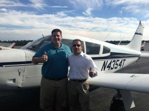 My student Peter Forte earns his CFI on 9/16