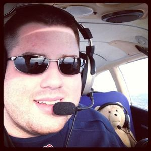 Ted E. Bear's first flight lesson! 1/11