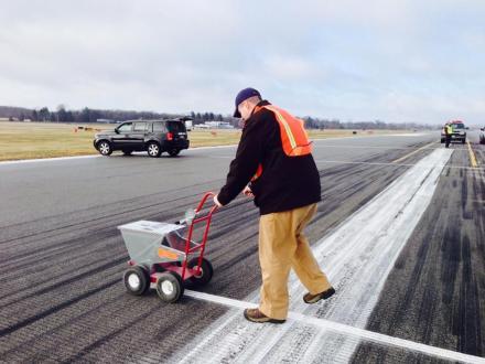 Striping the runway