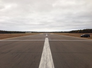 Runway 24 landing stripes are complete!