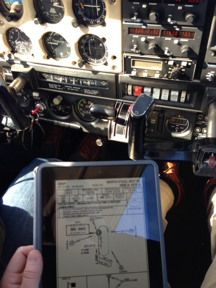 North Pole Approach Chart on the iPad