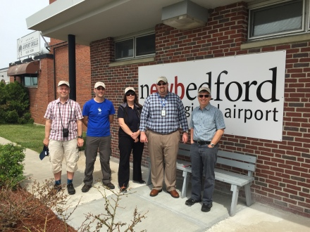 I had to get a picture with the Brits, all sporting their new New Bedford Regional Airport hats!