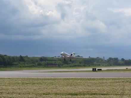 A Citation X departing from Runway 32 at EWB. (6/13)