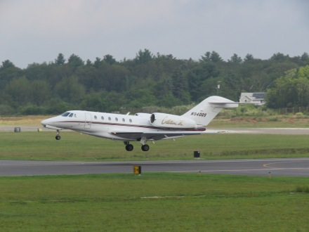 A Citation X departing from Runway 23 at EWB. (8/26)