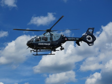 Another view of the Massachusetts State Police held on departure... (8/27)