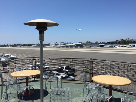We ate in the dining room, but there was an outside seating area with an exceptional view of the entire airfield!
