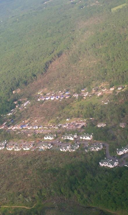 Partial tornado path